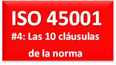 La estructura de ISO 45001: 10 Cláusulas